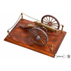 Denix 9445 Civil War cannon with base, USA 1857