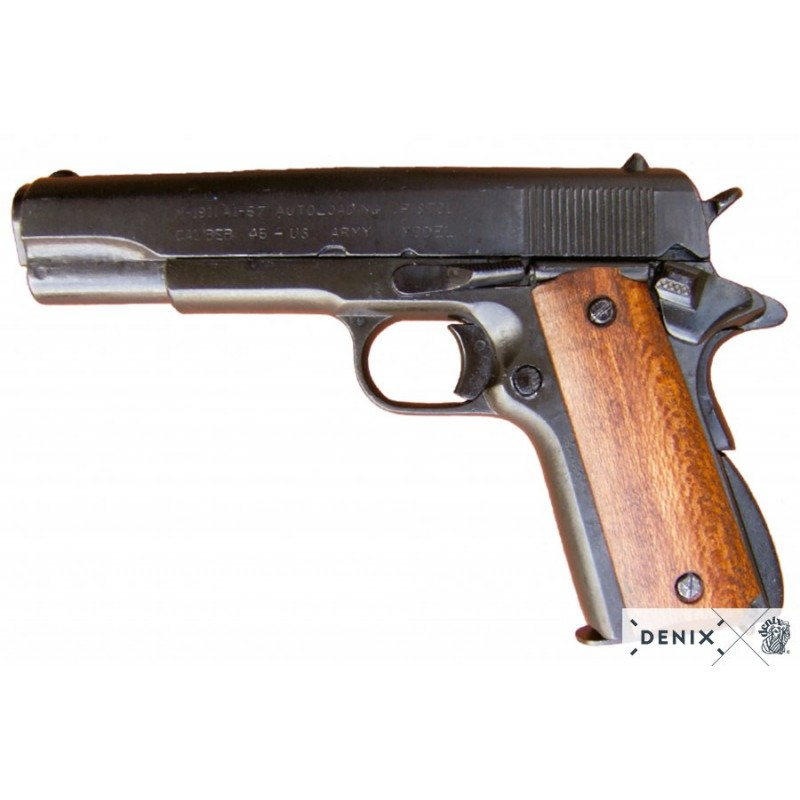 Denix M-1227 Colt 45 M1911 Automatic Gun Wood Grips