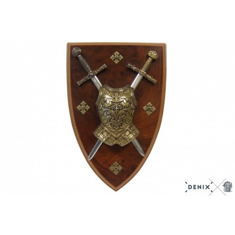 Denix 508 Panoply with cuirass and 2 swords