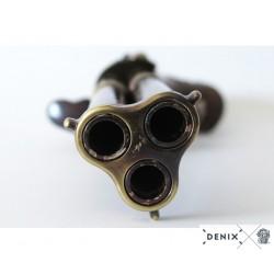 Denix 5309 Revolving 3 barrel flintlock pistol, France 18th. C.