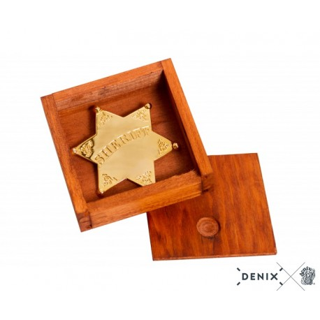 Denix 8101 Sheriff star badge with box