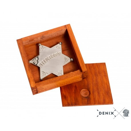 Denix 9101 Sheriff star badge with box