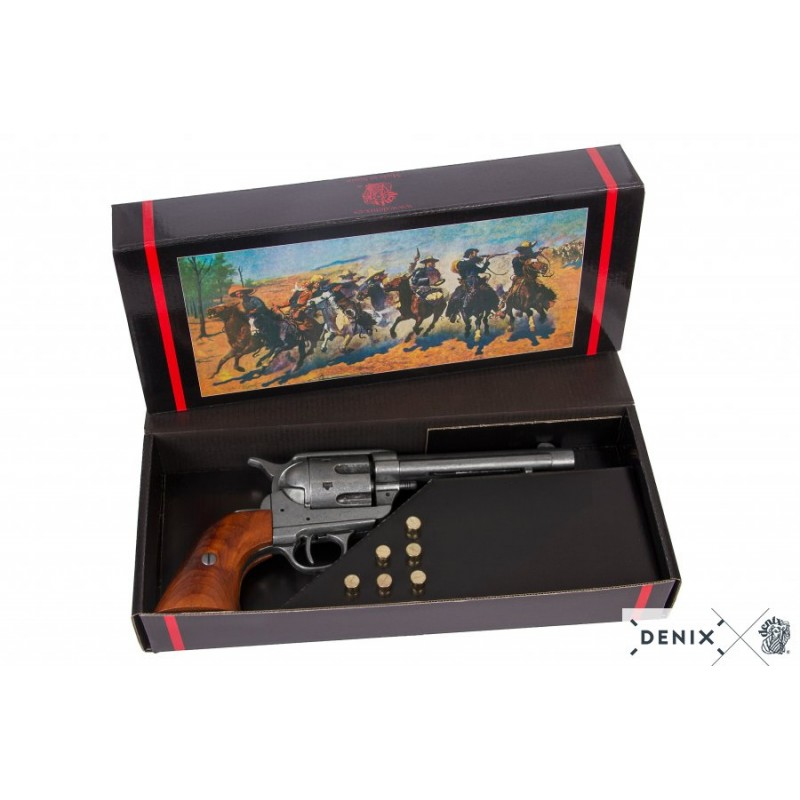 "Denix 1-1106/G Revólver Cal.45 Peacemaker 5½"", with 6 bullets, USA 1873"