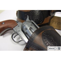 Denix 703 Leather cartridge belt for one revolver