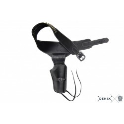 Denix 707 Leather cartridge belt for one revolver