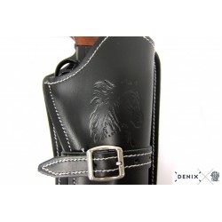 Denix 707 Leather cartridge belt for one revolver