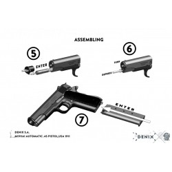 Denix 1312 M1911A1 automatic .45 pistol,USA 1911