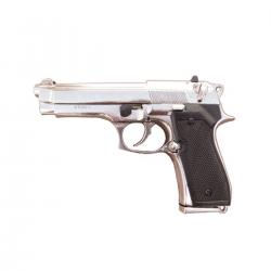 Denix 1254/NQ Beretta 9mm Pistol Replica Chrome finish